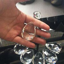 10X/lot Clear Teardrop Crystal Glass Beads Chandelier Ornaments Home Decor DIY