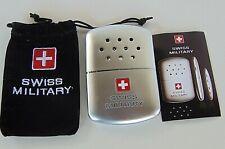 Taschenofen Handwärmer Benzin-Handwärmer Ultra flach Swiss Military NEU!