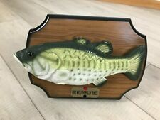 Original Gemmy Industries Big Mouth Bass Musical 1999 Plays Take Me to the River