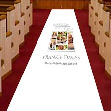 Personalised Funeral Aisle Runner, Memorial, Remembrance and Celebration Collage