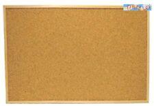 CARTOLERIA UFFICIO-Lavagna in sughero con cornice legno 60x90 cm + ganci+puntine