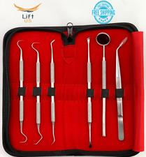 6pc Dental Scaler Curette Pick Set Dental Cleaning Kit Professional Oral Hygiene
