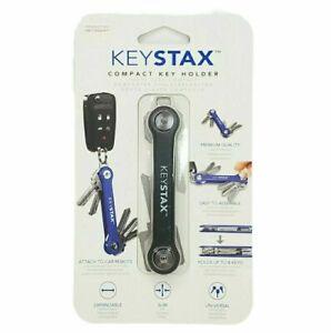 KeySmart Keystax Compact Key Holder & Keychain Organizer,  up to 8 Keys, Black