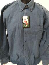 Vintage A&N Button Down Soft Cotton Shirt Men's Size Medium Blue NWT