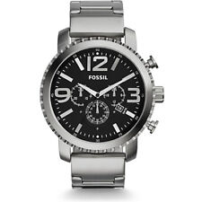 Fossil Men's Gage Chronograph Silver Tone Stainless Steel Watch 50mm BQ1708
