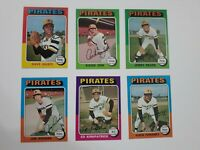 1975 Topps Baseball 6 Card Pittsburgh Pirates lot.  Very Good to Excellent-NRMT.
