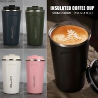 Stainless Steel Insulated Travel Mug Tumbler Coffee Cup Hot Water Thermal Bottle