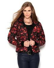 Galliano Floral Hooded Puffer Jacket red black sz 40 new