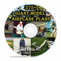 375+ Giant Full Scale RC Model Airplane Plans Templates, Scratch Build, DVD F56