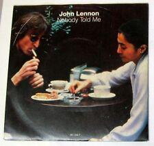 "JOHN LENNON - NOBODY TOLD ME - O' SANITY (YOKO ONO) - 45gg 7"" NUOVO"