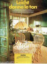 PUBLICITE ADVERTISING 106  1973  Cuisine équipée Leicht meubles