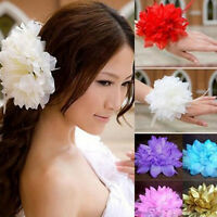 1pc Formal/Races/Bridal Silky Fabric Flower Hair Pin/Corsage/Tie/Clip/Brooch