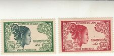 Laos  1952 Natives. Laotian Women France French Union 0.80 & 1.10 MLH
