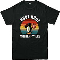 NOOT NOOT PINGU Printed T Shirts Mens Kids Funny Causal Trendy T Tops 3/4-4XL
