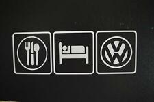 eat sleep Volkswagen VW GTI GLI beetle bus golf window sticker vinyl decal #309