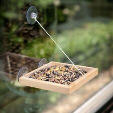 Wooden Bird Window Feeder Nuts Mealworm Birdfeeder Birdswing Vide Table
