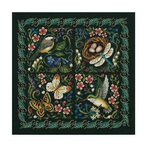 """Dimensions Gold Collection Counted Cross Stitch Kit The Finery Of Nature 14""""X14"""""""