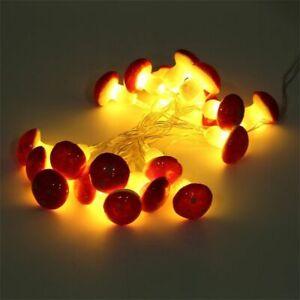 Indoor LED Christmas Lights Household Decoration Mushroom Shape Battery Operated