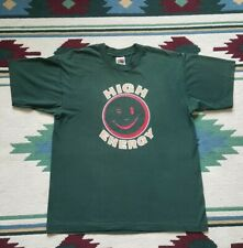 Vintage 1990s High Energy Green Graphic Single Stitch T Shirt PARTY TIME