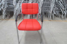 1 Stuhl Konferenzstuhl Designer PU verchromt Lederstuhl stapelbar neu Stapelstuh