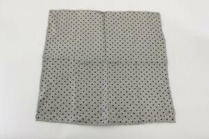 NWT Brunello Cucinelli Men's 100% Silk Polka-Dot Print Pocket Square  A191