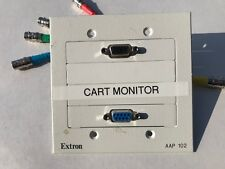 Extron AAP 102 Mounting Frame White, HD15 VGA/ DB9 control