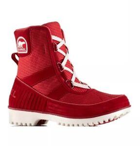 NEW SOREL Tivoli II Go Sneaker Boot Women's 9 Rocket/Sea Salt Lace Up Waterproof