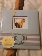 First Moments Baby Boy Photo Album - Elephant - Holds up to 200 4x6 photos