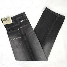 Southpole Mens Hip Hop Jeans Size 30 Black Faded Patches Loose Fit