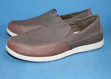 CROCS Deluxe Santa Cruz Loafer 204241 Men's 13 Brown Canvas & Leather