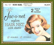Jac-O-Net Bob  FRENCH  TINY mesh Hair net black
