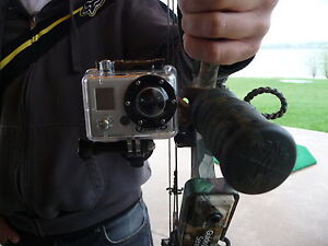 Bow Hunting Camera mount. Mount to any Bow with any Camera. Mathews GoPro Canon
