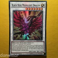 Black Rose Moonlight Dragon - Super Rare - YuGiOh - HSRD - 1st Editi - Mint card