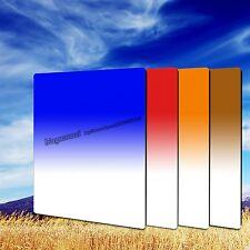 100mm Soft Gradual Color Blue Orange Red Coffee Filter Kit For Cokin Z HITECH