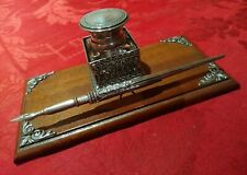 inkwell container,  pen , portuguese silver