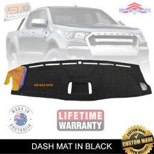 Dash Mat Ford Ranger PX2 PX3 MK3 XLT XL XLS +Coin Tray 6/2015-2019 DM1405 BLACK
