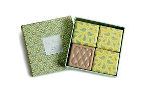 "Vera Bradley ""Vanilla Sea Salt"" Soap Set of 4 bars. New in box!"