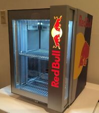 Red bull mini fridge used but works great with locks (please read) US ship only