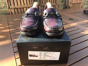 Sebago Classic Joe Mens Brown Burgundy Leather Loafers Shoes