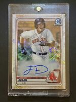 2020 Bowman Chrome Mega Jarren Duran SP ROOKIE AUTO Mojo Refractor Red Sox