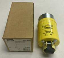 Hubbell HBL26419 600V 3 Pole Power Plug - Yellow