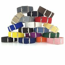 Set of 18 Perlon Woven Strap 20mm (stainless steel buckles)