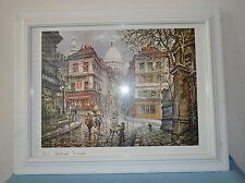 Paris Montmartre Le Consulate Framed Print 18 1/2 by 14 1/2