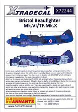 Xtra Decals 1/72 BRISTOL BEAUFIGHTER Mk.VI & TF.Mk.X