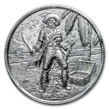 Elemetal 2 oz Privateer Ultra High Relief Silver - The Captain (P3)