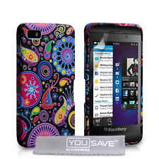 New Silicone TPU Gel Case Blackberry Z10 Colourful Jellyfish Pattern Phone Cover