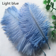 10pcs Light blue ostrich feathers 6-8 inches / 15-20 cm DIY clothing accessories
