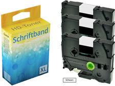 3x Schriftband für Brother P-Touch PT E100 1010 1230 H100R H300 D200 H105 TZ-231