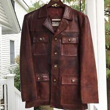 VTG GREAT 70's Chestnut Brown Leather Jacket Men's Size 40 J Riggings Retro SOFT