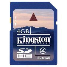 SCHEDA DI MEMORIA KINGSTON GB CLASSE 4 SD HC SDHV SD4/4GB MEMORY CARD